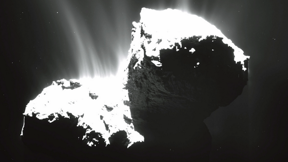 Jets off of 67P