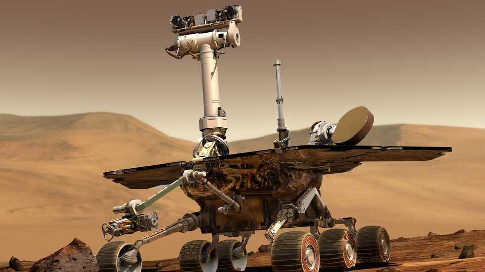 NASA illustration of Mars rover